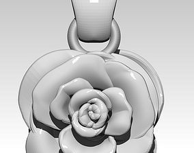 Rose pendant 3D print model