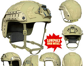 3D asset Ops Core FAST SF High Cut Helmet Low poly