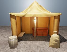 Camp set 3D asset