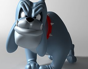 rigged Crazy dog cartoon 3D