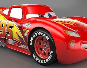 Lightning Mcqueen 3Dmodel realtime