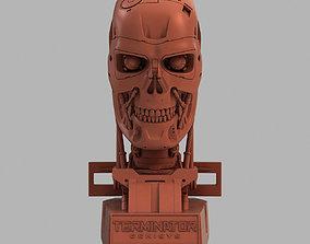 Terminator T-800 Genisys Skull Bust V2 3D printable model