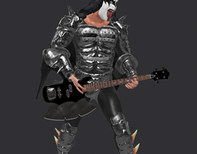 Gene Simmons Kiss with guitar - Augemted Reality 3D asset