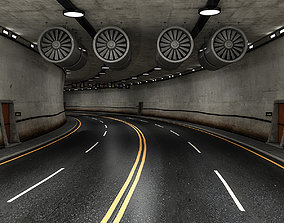 low-poly Road Tunnel 3D model