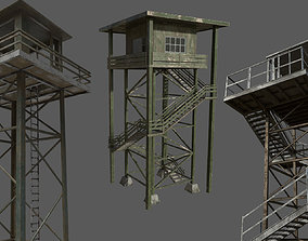 3D model Military Watchtower Pack