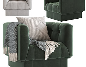3D model Globewest Humphrey Square 1 Seater Sofa
