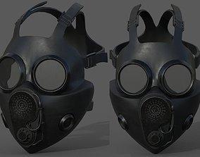 low-poly Gas mask helmet 3d model military combat 1