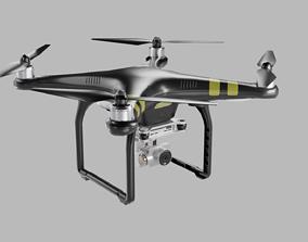 Low poly DJI Phantom 3 Pro 3D model