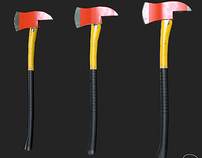 3D model Fire Axe PBR Specular Mobile LOD