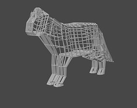 3D printable model Wireframe Cat Sculpture