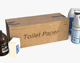 3D model realtime Toilet Cleaning Stuff