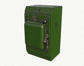 Power Box 3D asset game-ready