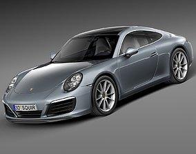 HQ LowPoly Porsche 911 Carrera Coupe 2016 3D asset