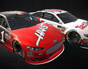 3D asset Nascar Fusion body 2015 and 2017