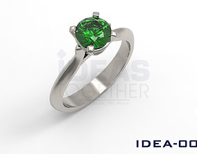 3D print model Simple engagement ring IDEA-0006