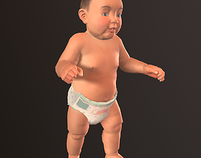 animated Game ready model of Baby
