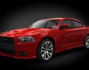 3D model realtime Dodge Charger SRT8 2012