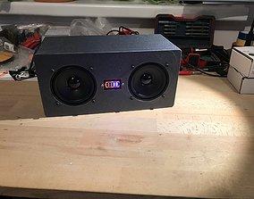 DIY stereo speaker 3D print model