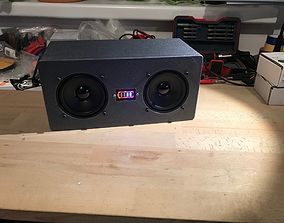 DIY stereo speaker 3D print model