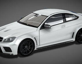 low-poly Mercedes-AMG C63 Coupe 3D Model