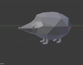 Low Poly HedgeHog 3D asset