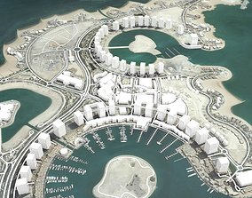 3D The Pearl Qatar Doha