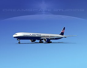 Boeing 777-300 North American 3D model