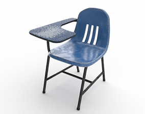 PBR Old School Chair with variations 3D