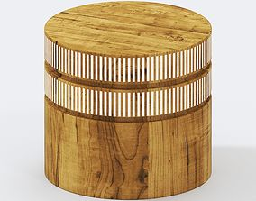 Round Side Table with Accent 3D