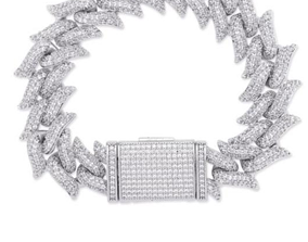 Chain bracelet clasp ICE printable 3d design