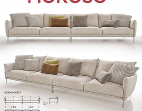Moroso Gentry GE626 - GE627 Sofa 3D