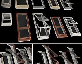 Skylights Roof windows 3D