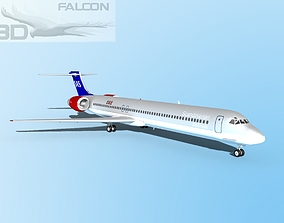 rigged Falcon3D MD-80 SAS