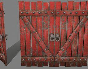 3D model game-ready Medieval Door