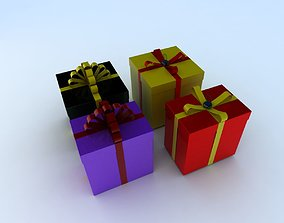birthday Gift box 3d model