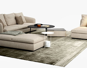 3D Molteni C Sloane sofa Belsize Table Set