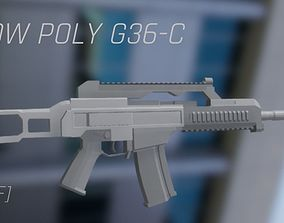 G-36C Low poly assault rifle FPS Ready 3D model
