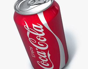 Realistic Coca cola can 3D model