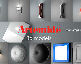 3D Artemide wall lamps collection vol 1