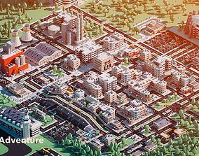 City Adventure 3D model low-poly