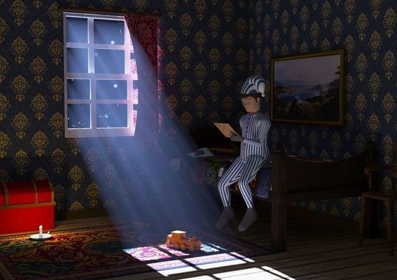 Boy in room