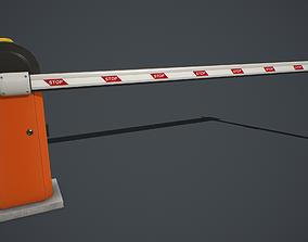3D model Automatic Traffic Barrier PBR
