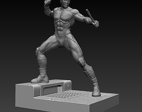 Daredevil Statue 3D print model