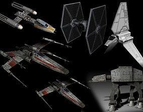3D model Star Wars - Lowpoly Vehicles