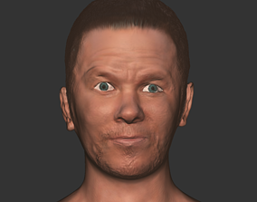 realtime Mark wahlberg head realistic hollywood actor