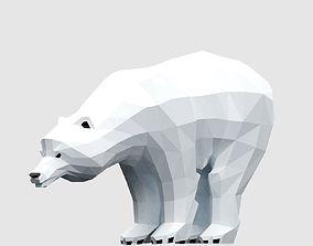 3D asset low-poly Polar Bear