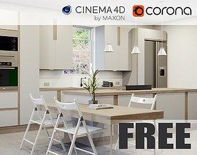 Corona - C4D Scene files - FREE KITCHEN 3D