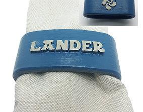 3D printable model LANDER napkin ring with lauburu