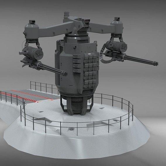 sci-fi Turret 4