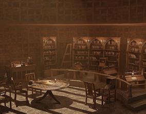VR / AR ready Medieval Library Model Pack Tortilla